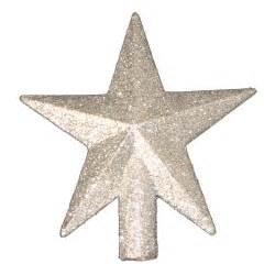 4 quot treasures silver glittered mini tree topper