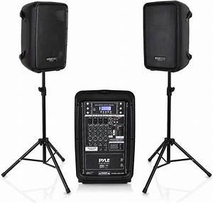 Pa Speaker Dj Mixer Bundle 300 W Portable Wireless