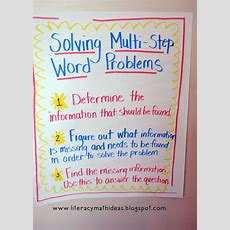 Literacy & Math Ideas How To Solve Multistep Word Problems  School Creativity Pinterest