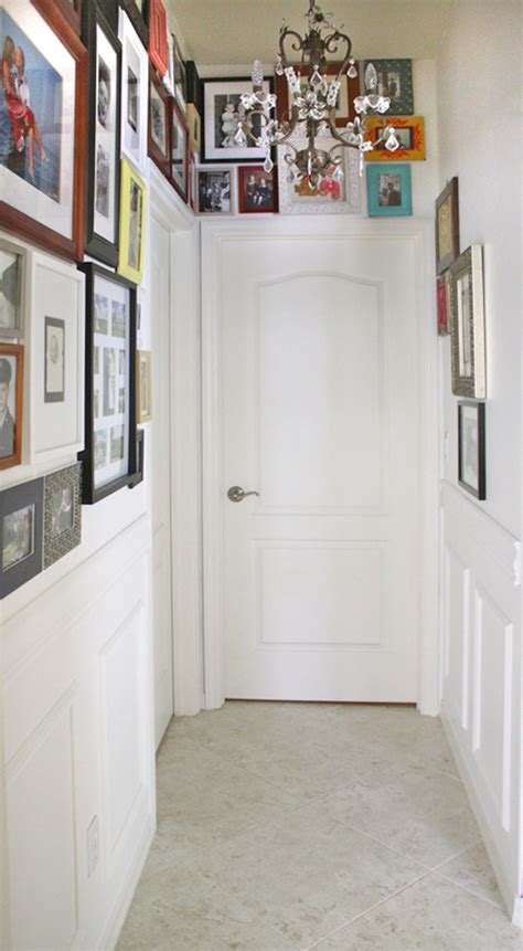 how to put up a chair rail and premade moulding panels