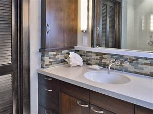 Photo page hgtv for Images of bathroom backsplashes
