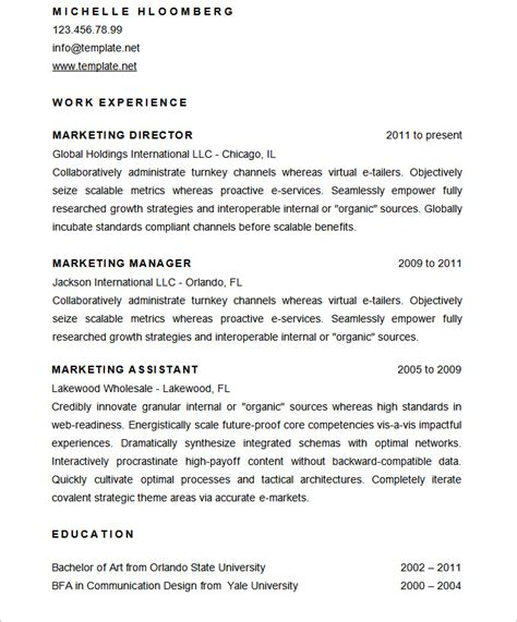 Marketing Director Resume 2014 by Mac Resume Template 44 Free Sles Exles Format Free Premium Templates