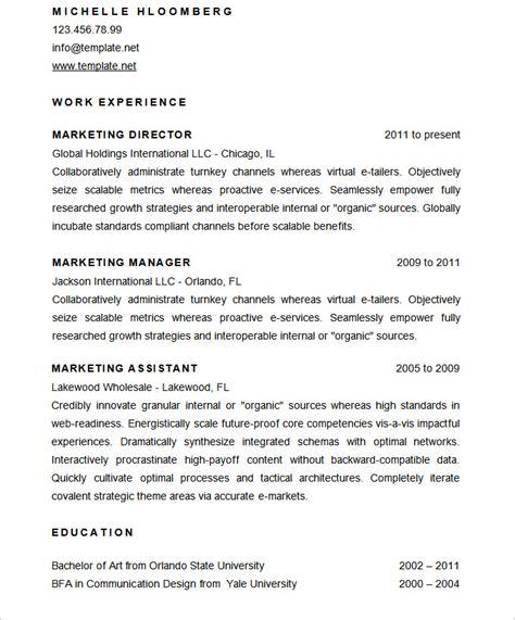mac resume template 44 free sles exles format