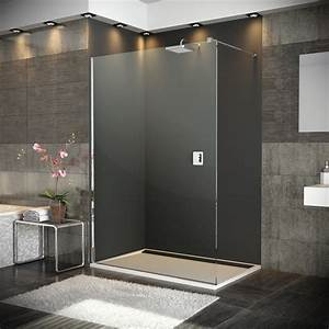 paroi de douche fixe walk in verre paisseur 8 mm With porte douche ronal