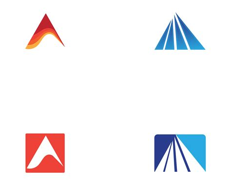 pyramid logo  symbol business abstract design template