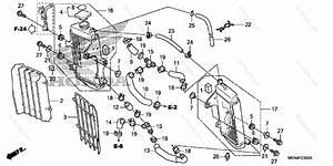 Honda Motorcycle 2009 Oem Parts Diagram For Radiator