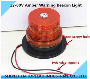 Wire Mount Smd Led Warning Beacon Light Amber Strobe Rotating Signal Light For Truck