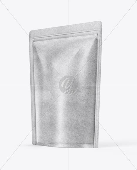Free kraft paper coffee standing pouch packaging mockup. Download Kraft Paper Stand-up Pouch Mockup - Half Side ...