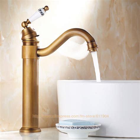 Antique Brass Bathroom Faucet Classic Lavatory Bath Basin