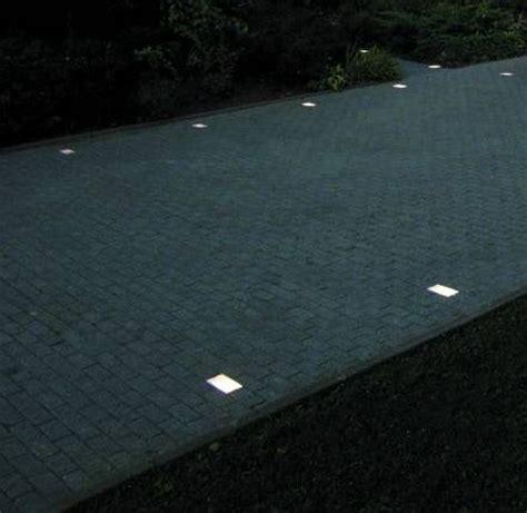 solar light ideas flush mounted driveway lighting