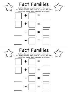 math fact families images math facts fact