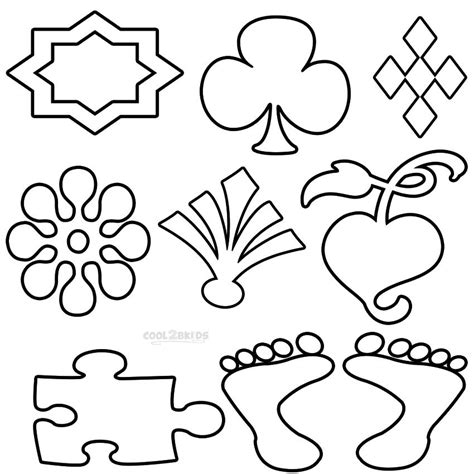 Coloring Shapes by Printable Shapes Coloring Pages For Cool2bkids