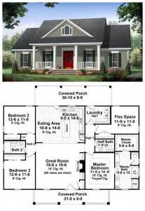 Simple Houses Bedroom Placement by Colonial Country Traditional House Plan 59952 A Well