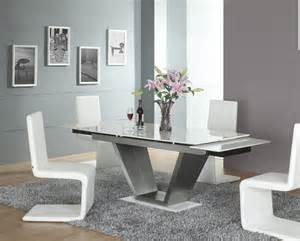 lucerne white contemporary modern marble extending dining set