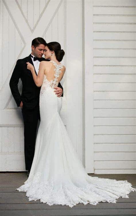 illusion racerback wedding dress  high neck