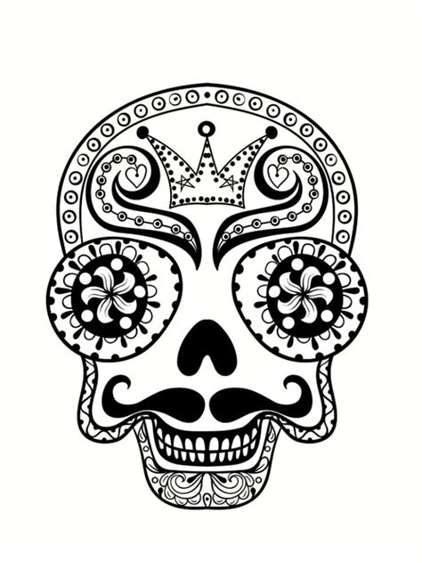 coloriage t 234 te de mort mexicaine 20 dessins 224 imprimer