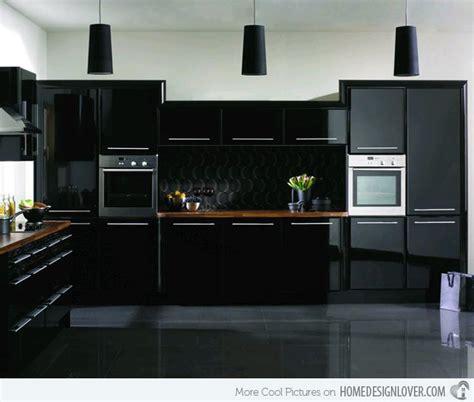 Black Modern Kitchen Cabinets