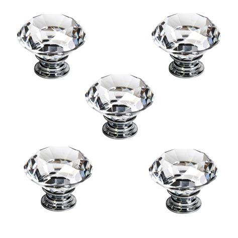glass drawer knobs new 5pcs 40mm clear glass cabinet drawer door
