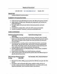 Sample Medical Assistant Resume Free Download