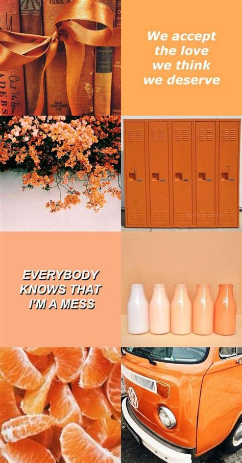 pastel orange aesthetic wallpapers