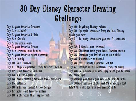character design challenge 30 day disney character drawing challenge by eraport6 on