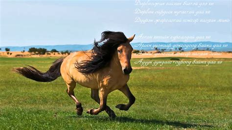 mongolian traditional  fairy horse hongor mori