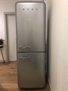 Kitchen Silver Retro 50s Style Smeg Fridge Freezer Smeg Refrigerator