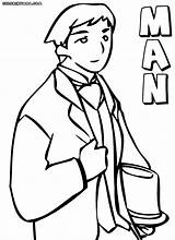 Man Coloring Pages Colorings Coloringway sketch template