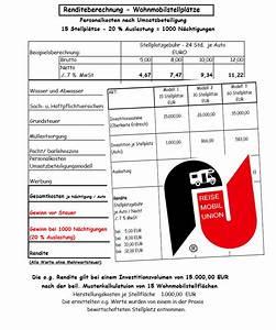 Herstellungskosten Berechnen Beispiel : renditeberechnung wohnmobilstellpl tze ~ Themetempest.com Abrechnung