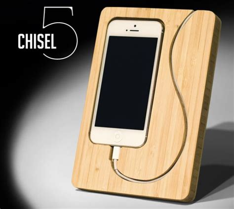 iphone 5 dock chisel 5 iphone dock handcrafted from renewable bamboo