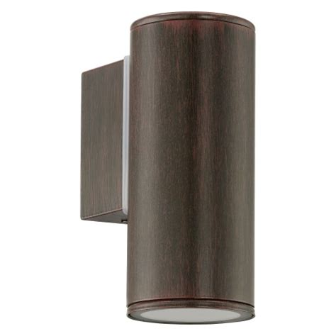 riga led outdoor antique brown wall light 94104 the