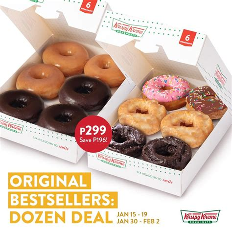 Its menu consists of donuts, coffees, drinks, as well as bagels and oatmeals. Krispy Kreme Deals January 2020 | Manila On Sale 2020