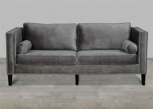 grey velvet sofa with nailheads With silver velvet sectional sofa