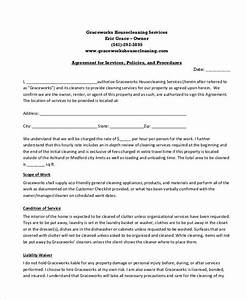 sample cleaning service contract 7 examples in word pdf With janitorial service contract template