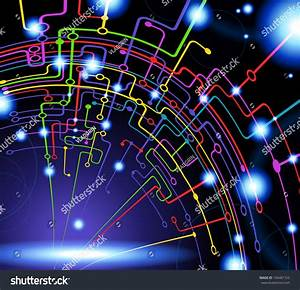 Abstract Vector Background Science Technology Stock Vector 104481722