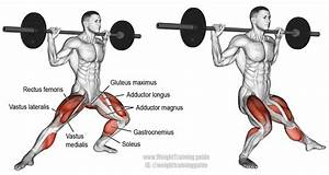 Barbell Side Lunge