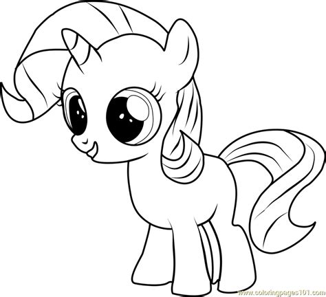 mlp coloring filly rarity coloring page free my pony coloring