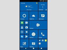 Windows 10 launcher on Google pixel is very convincing