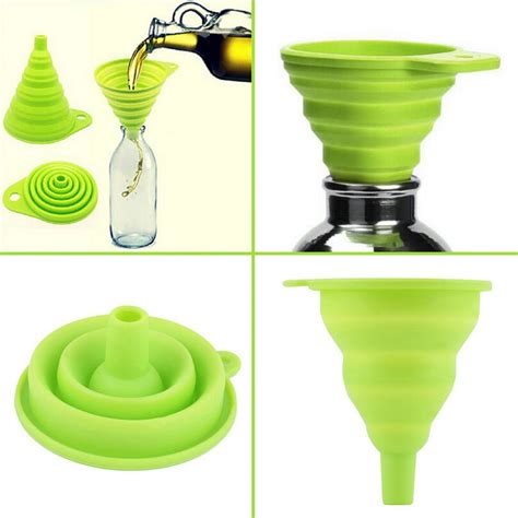 mini silicone gel foldable collapsible style funnel