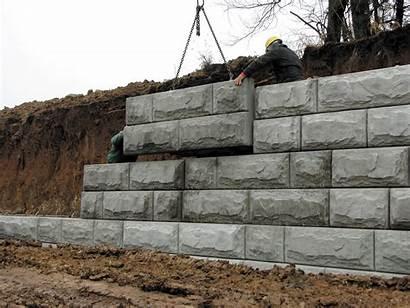 Retaining Walls Wall Precast Concrete Blocks Block