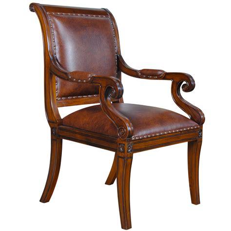 regency leather arm chair niagara furniture full grain