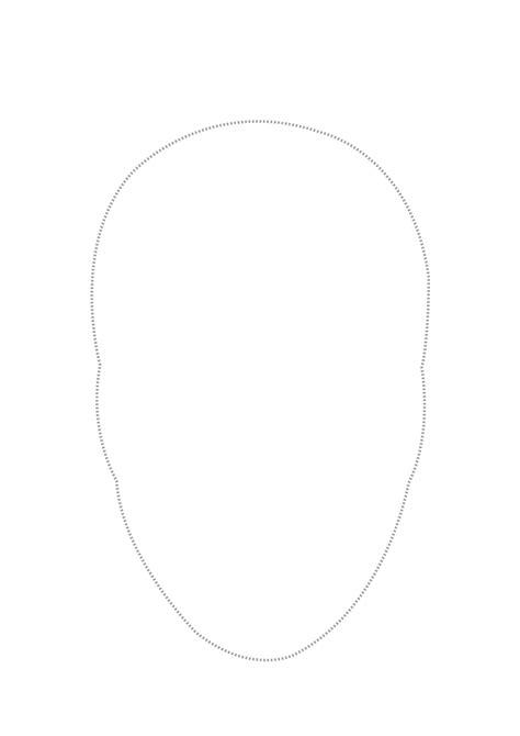 outline  face template   clip art