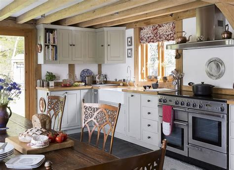 step 2 country kitchen step inside this oak framed new build property in wales 5798