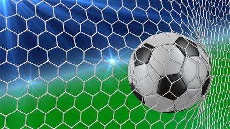 soccer ball falls   net   gate   green