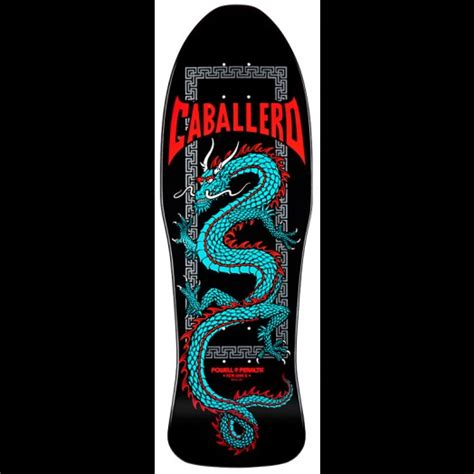 Powell Peralta Caballero Chinese Dragon Black Skateboard