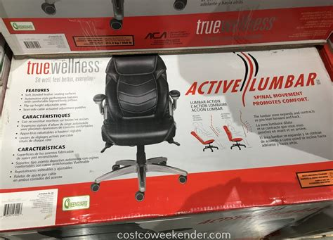 true innovations true wellness active lumbar chair