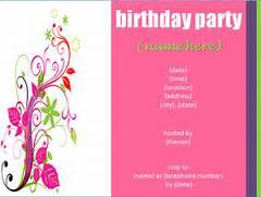 Free Birthday Party Invitation Templates 50 Free Birthday Invitation Templates You Will Love Blank Birthday Invitations Template Free Birthday Invitation Template 70 Free PSD Format