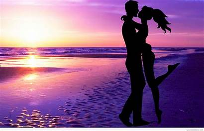 Couple Sunset Valentines Wallpapers Valentine Quotes Amazing