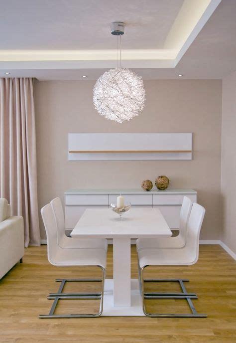Indirekte Led Beleuchtung Esszimmer Weiß Abgehängte Decke
