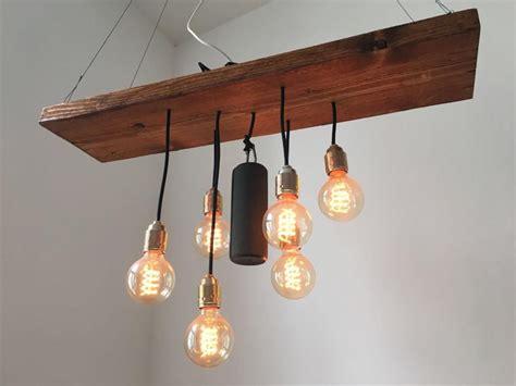 Esstischlampe Aus Altem Holzbrett Und Glühbirnen. #diy